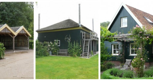 kleine gebouwen: carport, atelier, zomerhuisje